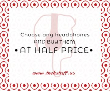 Headphones sale advertisement