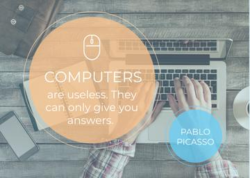 Computers quote poster