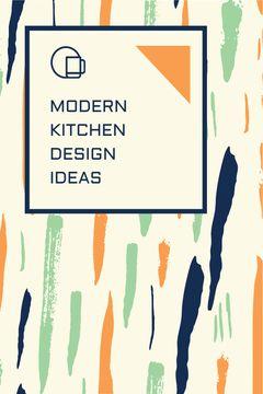 Kitchen Design Ad Colorful Smudges