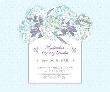 Hydrangea beauty studio ad in Blue