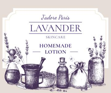 Homemade Cosmetics with Lavender flowers