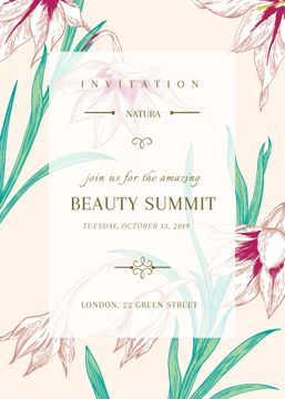 Beauty summit announcement on Spring Flowers