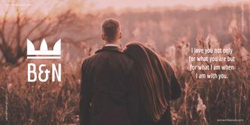 Couple in autumn field