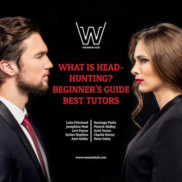Headhunting guide event with Man and Woman