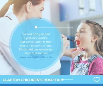 Children's Hospital Ad Pediatrician Examining Child