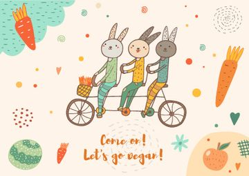 Let's go vegan illustration