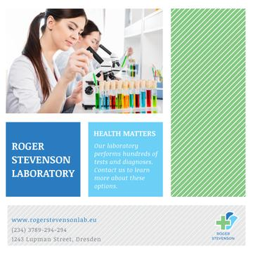 Laboratory Services Advertisement