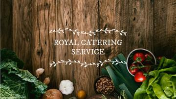 Catering Service Ad with Vegetables on Table