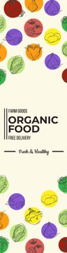 Organic food delivery banner