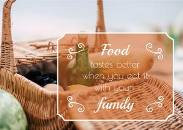 Food quote with Picnic Basket