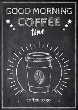 Chalk Illustration of cup of Coffee