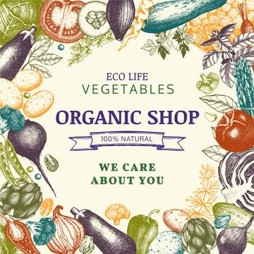 Organic shop with Vegetables