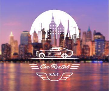 Car rental service poster