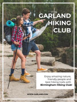 Garland hiking club meeting poster
