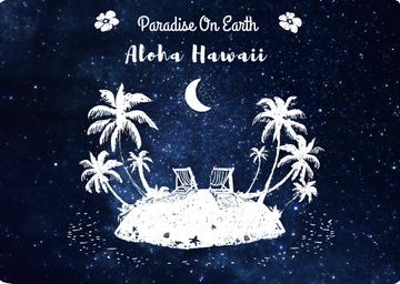 Hawaii Island Under Night Sky