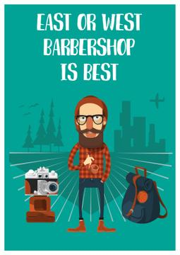 Cartoon illustration of Barbershop