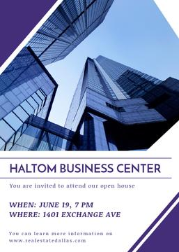 Business center opening invitation