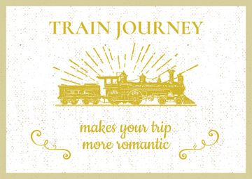 Train Journey with Vintage Locomotive