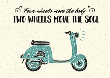 Two wheels quote poster