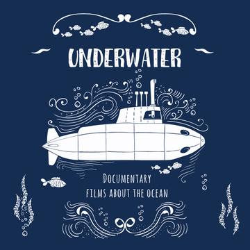 Underwater documentary film with Submarine