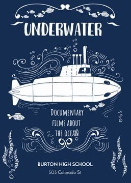 Underwater documentary film with Submarine