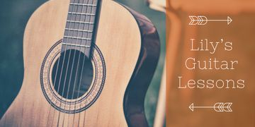 Lily's guitar lessons banner