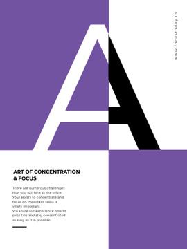 Art of concentration technique on Letter