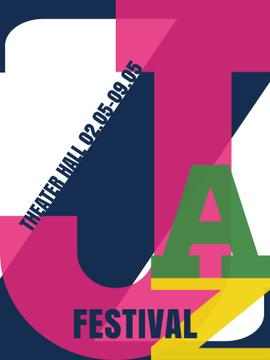 Jazz festival invitation with letters