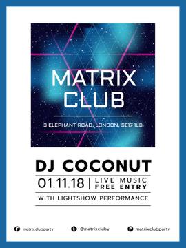 Music Club invitation on Digital Image