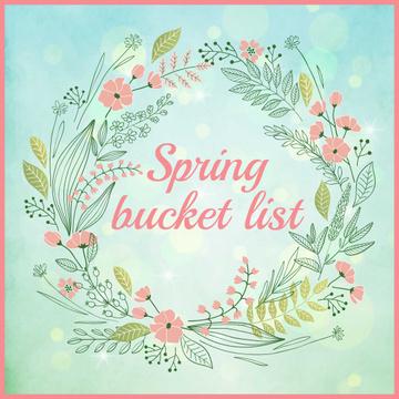Spring bucket list in Flowers frame