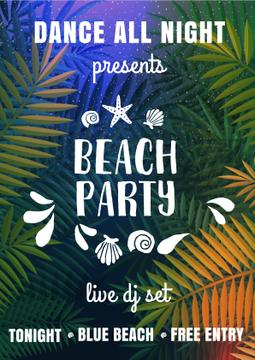 Bright Beach party Invitation