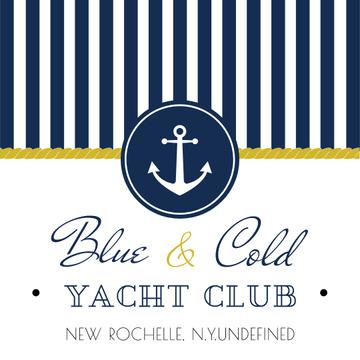Yacht club Ad with Anchor