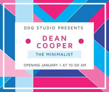 Art Exhibition announcement on colorful Stripes