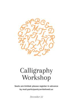 Calligraphy workshop Ad
