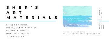 Art materials shop Offer