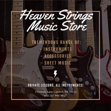 Music Store Ad