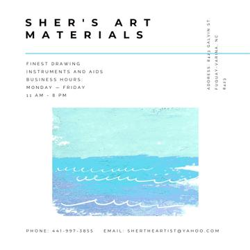 Art materials shop