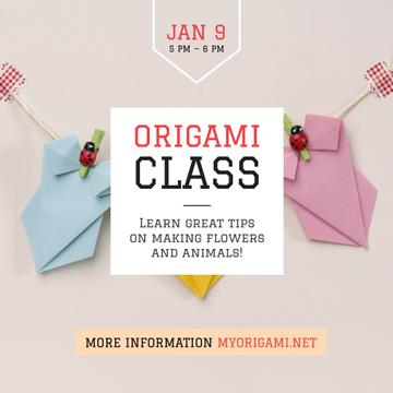 Origami class with Paper Animals