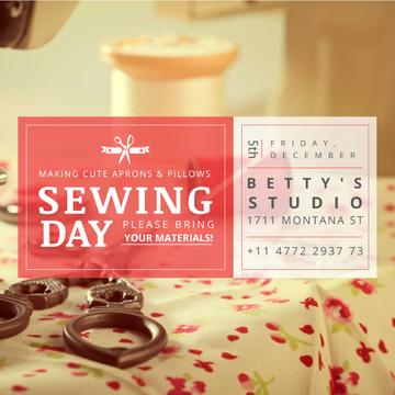Sewing day event with Flower Tablecloth