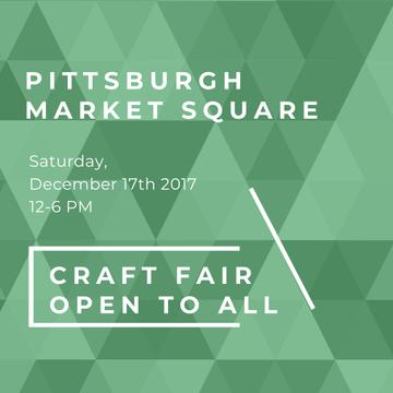 Craft Fair announcement on green pattern
