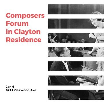Composers Forum Invitation Pianist and Singer