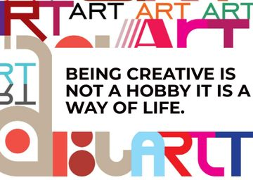 Creativity Quote with Colourful Letters