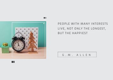 Inspirational Quote about Interests with alarm clock