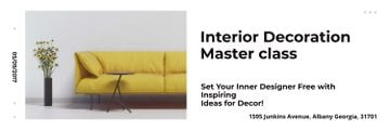 Interior Decoration Event Announcement Sofa in Yellow