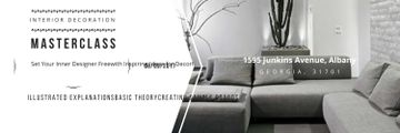 Interior Decoration Event Announcement Sofa in Grey