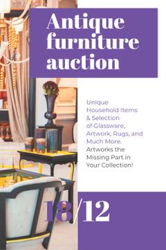 Antique Furniture Auction with Vintage Wooden Pieces