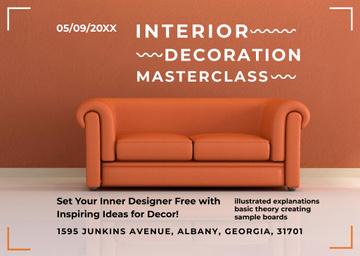 Interior Decoration Event Announcement Sofa in Red