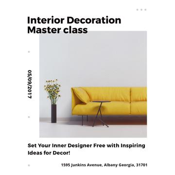 Minimalistic Room with Yellow Sofa