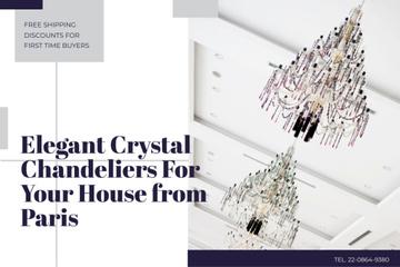 Elegant crystal chandeliers from Paris