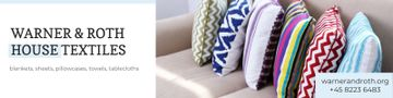 House Textiles Offer with Colorful Pillows